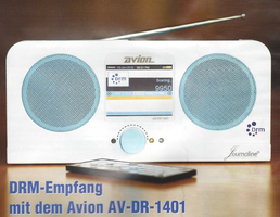 AVION DR 1401  AM(MW); SW; FM Multiband DRM-Radio from AVION/India